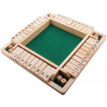 Shut  the  box  brætspil  -  4  personer
